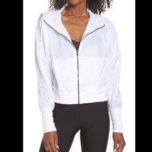 Alo Yoga Aqua White Hooded Jacket
